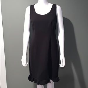 LIZ CLAIBORNE WOMANS black dress petites SZ.8